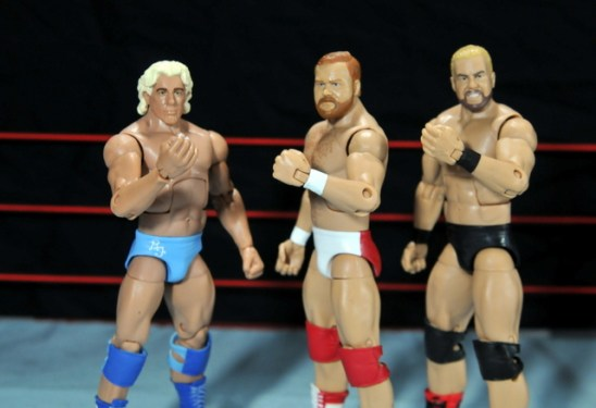 Four Horsemen figure review - Flair, Arn and Barry