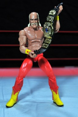 Hulk Hogan Hall of Fame figure - holding WWF title