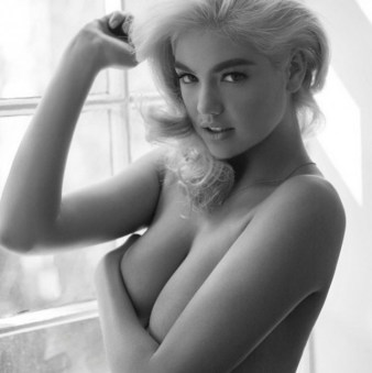 kate upton black and white topless