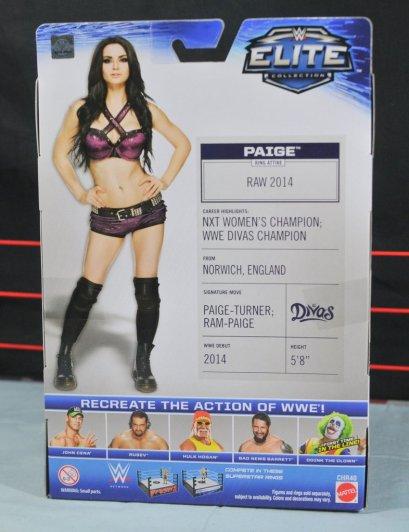 Paige WWE Mattel figure -rear package