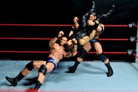 Randy Orton Mattel WWE Elite 35 -RKO and Batista Bomb combo