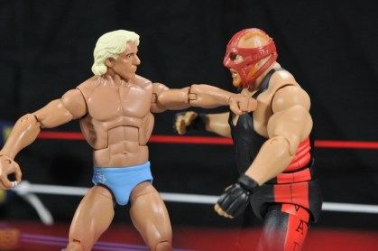 Ric Flair Defining Moments figure review - chopping Vader