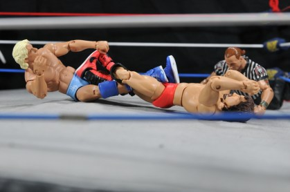 Ric Flair Defining Moments figure review - figure four on Terry Funk