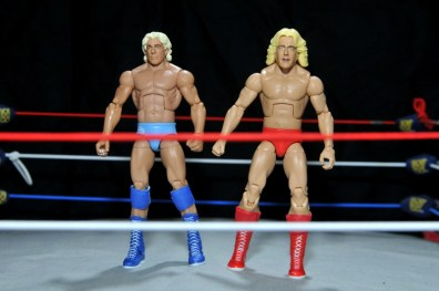 Ric Flair Defining Moments figure review - scale comparison with Jakks head