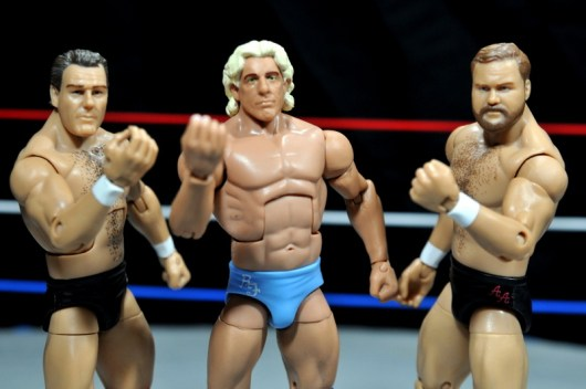 Ric Flair Defining Moments figure review - Tully Blanchard, Ric Flair, Arn Anderson