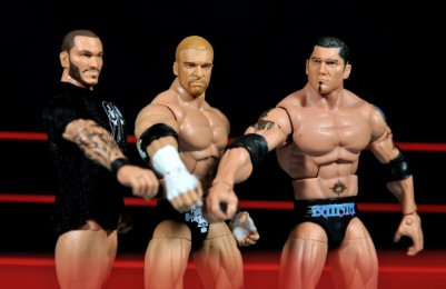 Triple H WWE Mattel Elite 35 - Evolution mocking Shield pose
