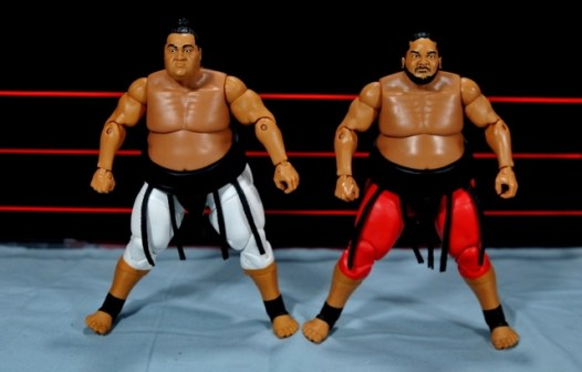 Yokozuna figure review Hall of Fame - head swap with Elite 15
