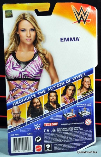 Emma WWE Mattel Basic 30 -rear package
