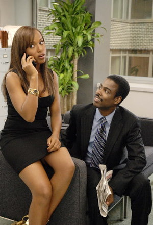 I Think I Love My Wife - Kerry Washington black dress and Chris Rock