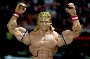 Lex Luger WWE Mattel Elite 30 figure - arms up