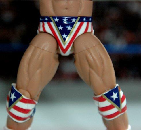 Lex Luger WWE Mattel Elite 30 figure -front tight detail