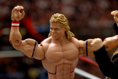 Lex Luger WWE Mattel Elite 30 figure -headsculpt detail
