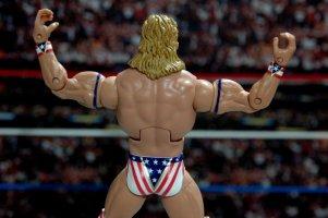 Lex Luger WWE Mattel Elite 30 figure -wide tights detail