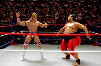 Lex Luger WWE Mattel Elite 30 figure -Yokozuna reeling