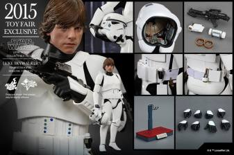 Luke Skywalker stormtrooper disguise Hot Toys -collage