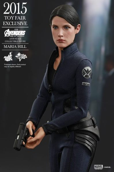 Maria Hill Avengers Age of Ultron Hot Toys figure -clutching gun