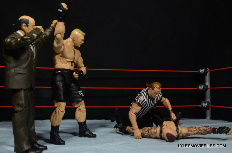 Mattel Brock Lesnar WWE figure - beating Undertaker