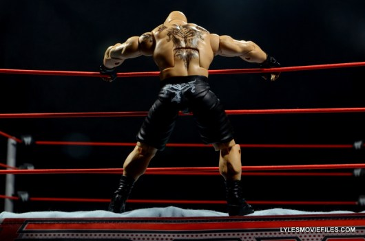 Mattel Brock Lesnar WWE figure - jumping onto apron