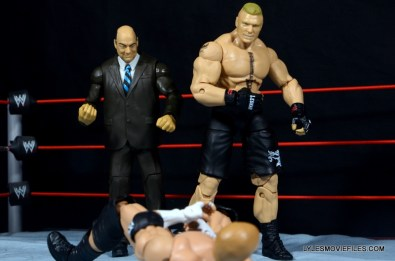 Mattel Brock Lesnar WWE figure - Paul Heyman and Brock gloating over Triple H
