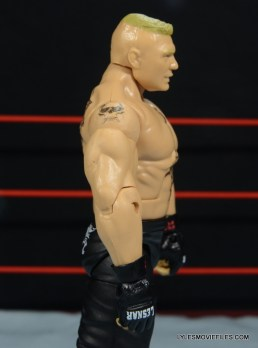 Mattel Brock Lesnar WWE figure - right side detail
