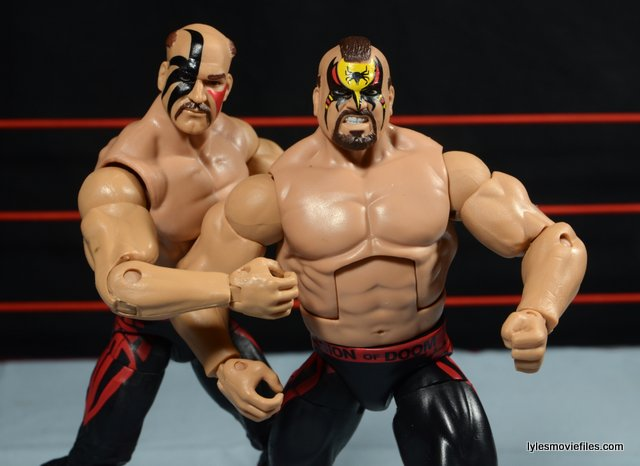 Mattel WWE Elite 30 Legion of Doom - Hawk and Animal posing
