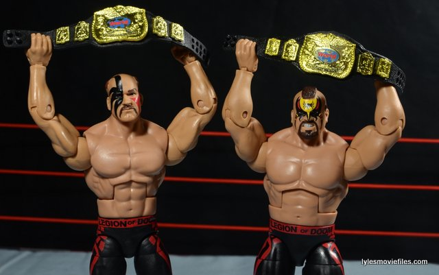 Mattel WWE Elite 30 Legion of Doom - holding tag team titles