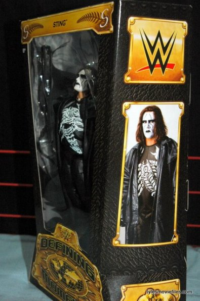 Sting figure WWE Mattel Defining Moments - package side