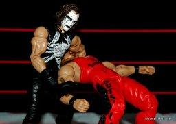 Sting figure WWE Mattel Defining Moments - Scorpion DeathDrop on Kevin Nash