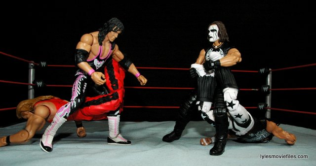 Sting figure WWE Mattel Defining Moments - Sharpshooter vs Scorpion Deathdrop on nWo