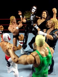 Sting figure WWE Mattel Defining Moments - WCW celebrates Sting winning title