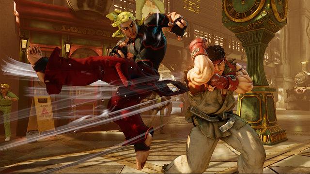 Street Fighter V - Ken hurricane kick Ryu