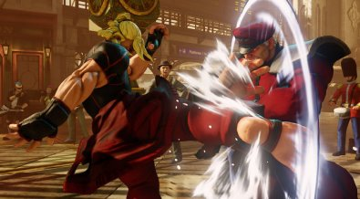 Street Fighter V - roundhouse kick to Bison