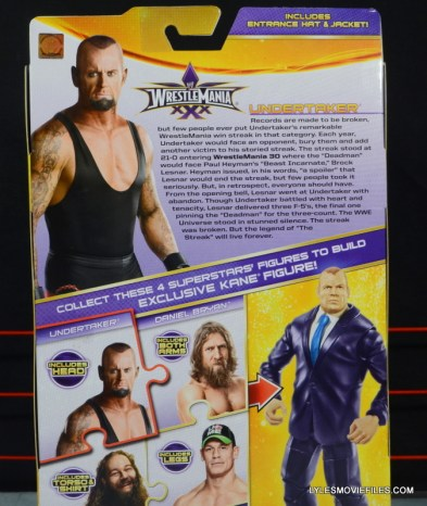 Wrestlemania 30 Undertaker Mattel - back package