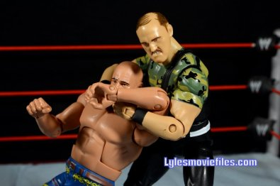 Sgt. Slaughter WWE Hall of Fame figure - cobra clutch to Iron Sheik