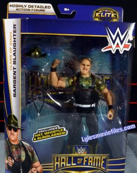 Sgt. Slaughter WWE Hall of Fame figure - front package
