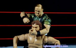 Sgt. Slaughter WWE Hall of Fame figure - noogie on Hacksaw Jim Duggan