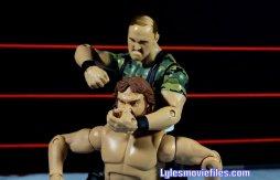 Sgt. Slaughter WWE Hall of Fame figure - noogie on Hacksaw Jim Duggan