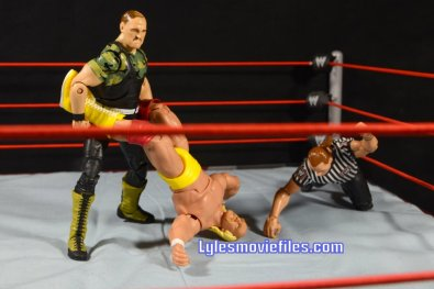 Sgt. Slaughter WWE Hall of Fame figure - trying to turn Hogan over