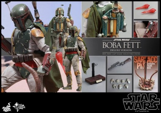 Boba Fett Hot Toys figure -collage