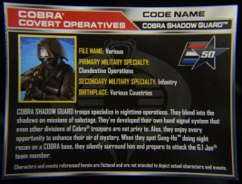 GI Joe Gung-Ho vs Cobra Shadow Guard -CSG file card