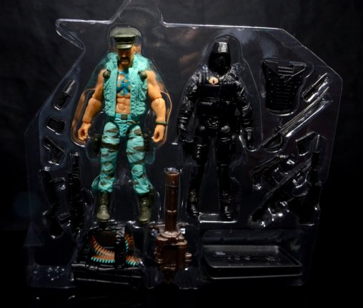 GI Joe Gung-Ho vs Cobra Shadow Guard -in inner tray