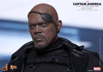 Hot Toys Captain America Winter Solider Nick Fury figure -close up patch removed
