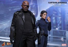 Hot Toys Captain America Winter Solider Nick Fury figure -with Maria Hill