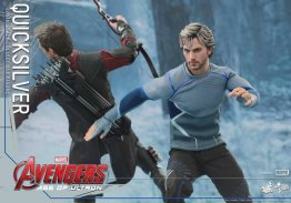Hot Toys Quicksilver figure -speeding past Hawkeye