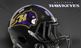 JustKozy MARVEL NFL Helmets - Baltimore Hawkeyes