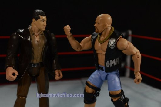 Stone Cold Steve Austin Hall of Fame - flipping off McMahon