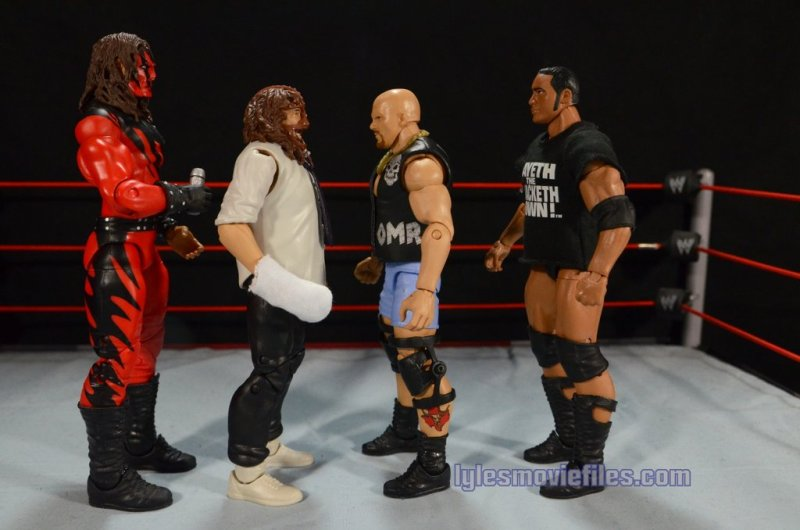 Stone Cold Steve Austin Hall of Fame -scale with Kane, Mankind and The Rock