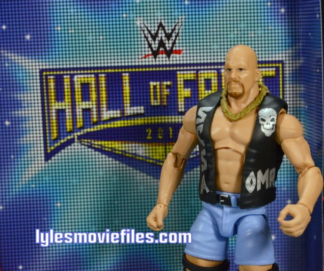 Stone Cold Steve Austin Hall of Fame - with Hall of Fame banner