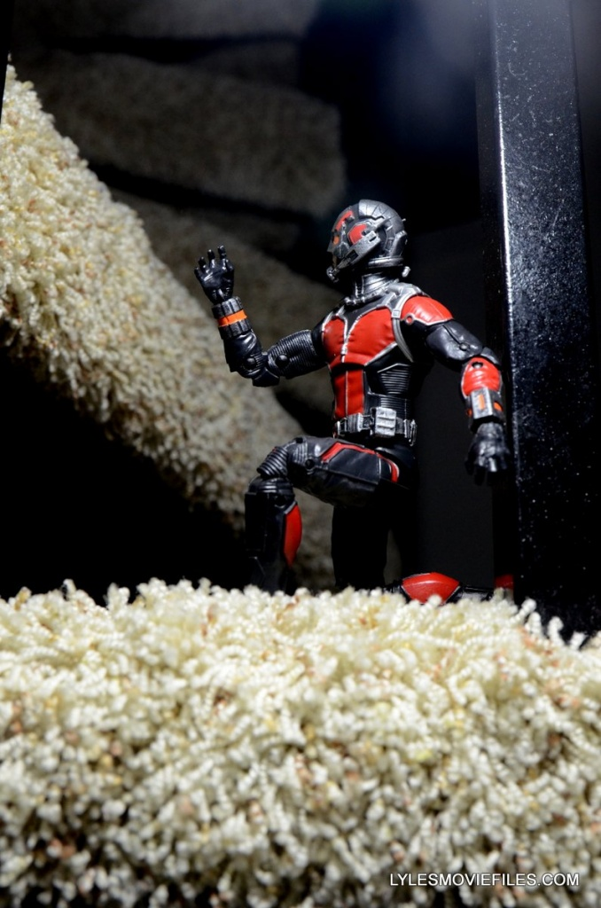 Ant-Man Marvel Legends figure review - climbing the stairs
