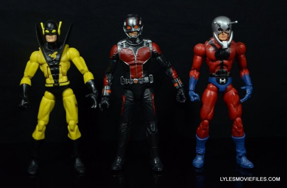 Ant-Man Marvel Legends figure review - scale with Marvel Legends Yellowjacket and Toy Biz Ant-Man